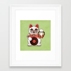 Meowsique non stop Framed Art Print