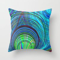 Re-Created  Hurricane 3 by Robert S. Lee Throw Pillow