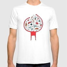 holding it all together SMALL Mens Fitted Tee White