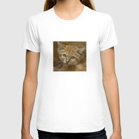 Sand Cat Womens Fitted Tee White SMALL