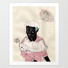 Lucky-Girly you Art Print
