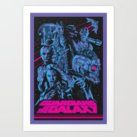 Guardians of the Galaxy NEON Art Print