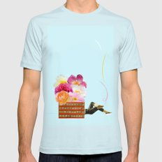 laid back SMALL Mens Fitted Tee Light Blue