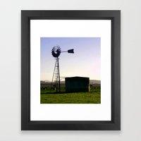 Early morning on the Farm Framed Art Print