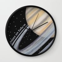 Sightsee On Saturn Wall Clock