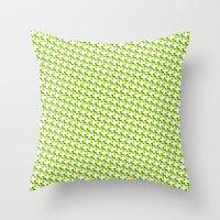 So cross… yellow. Throw Pillow