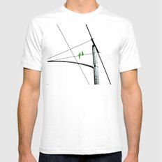 Love Birds Geometry SMALL Mens Fitted Tee White