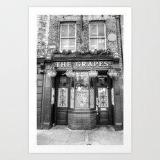 The Grapes Pub London Art Print