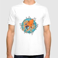 Hexapus Ink 2 Mens Fitted Tee White SMALL