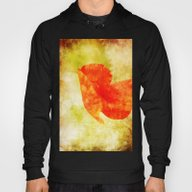 Poppy Art And Texture Hoody