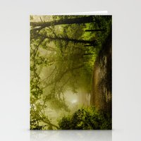 Misty Woodland Lane Stationery Cards