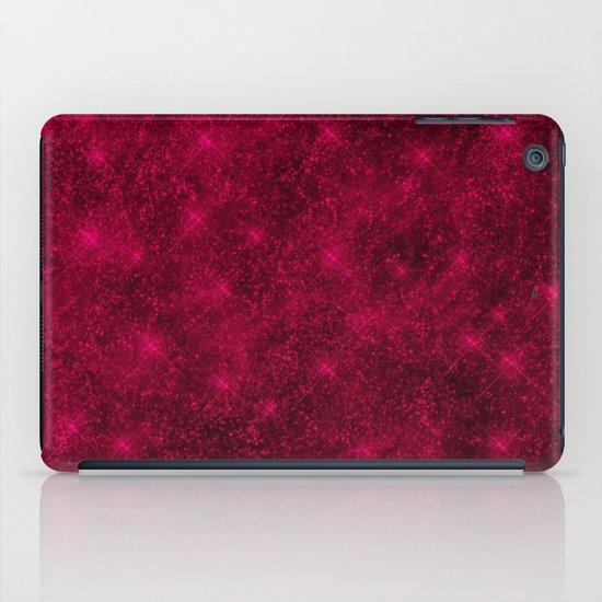 Sequin series red iPad Case