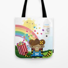 PopCorn can save the world Tote Bag