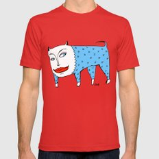 doggie Mens Fitted Tee Red SMALL