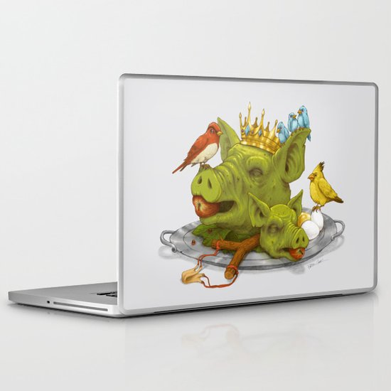 Furious Fowl Laptop & iPad Skin