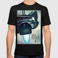Back To The Future II Mens Fitted Tee Tri-Black SMALL