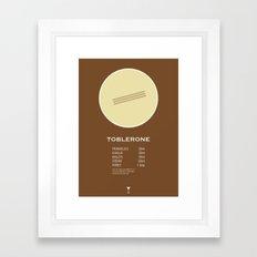 Toblerone Cocktail Recipe Poster (Metric) Framed Art Print