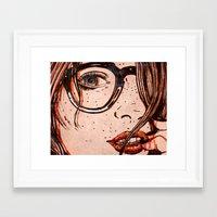 Framed Art Print featuring LE REGARD by Stephan Parylak