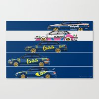 Colin McRae, The Subaru Years Canvas Print