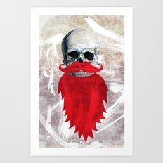 Beard Skull Art Print