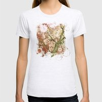 Majestic Tree Womens Fitted Tee Ash Grey SMALL