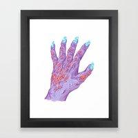 Cloud Nails Framed Art Print