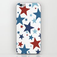 Stars - Red, White and Blue iPhone & iPod Skin