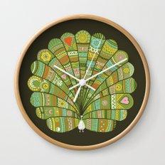 Peacock at Dawn Wall Clock