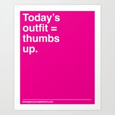 Today's Outfit Art Print
