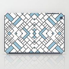 PS Grid 45 Sky Blue iPad Case