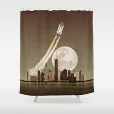 Rocket City Shower Curtain