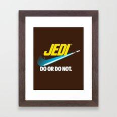 Brand Wars: Jedi - blue lightsaber Framed Art Print