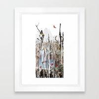 child in the tree Framed Art Print