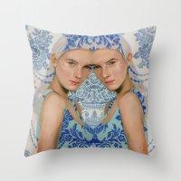 Ice By Alex Garant Throw Pillow