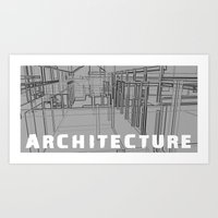 ARCHITECTURE - grey Art Print