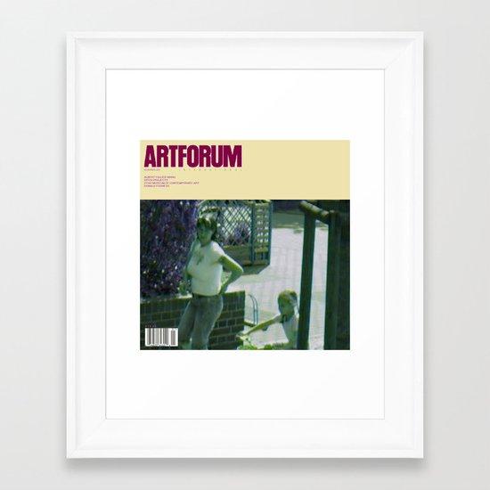 November 2012 Artforum Cover Framed Art Print