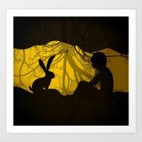 Rabbit Hole Art Print