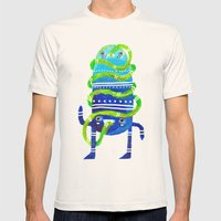 Mr Tubeface Mens Fitted Tee Natural SMALL