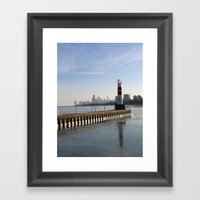 Montrose Harbor In The W… Framed Art Print