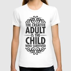 Creative Womens Fitted Tee White SMALL