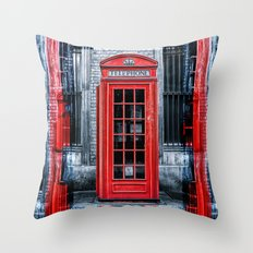 London - Telephone booth alone Throw Pillow