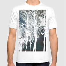 Arbres aux papillons Mens Fitted Tee SMALL White