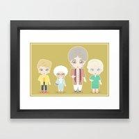 Girls in their Golden Years Framed Art Print