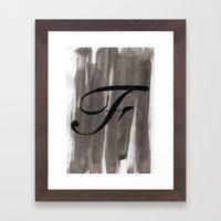 - F - Framed Art Print