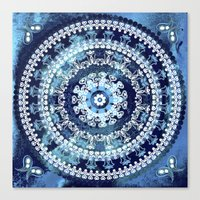 Marina Blue Mandala Canvas Print