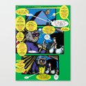 Bird of Steel Comix – 6 of 8 (Society 6 POP-ART COLLECTION SERIES)   Canvas Print