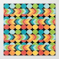 Retro Color Play Canvas Print