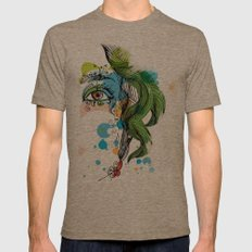 floral girl Mens Fitted Tee Tri-Coffee SMALL