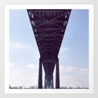Cantilever Bridge  Art Print