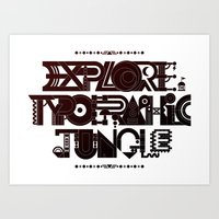 Explore The Typographic Jungle Art Print